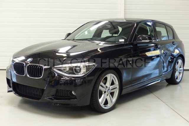 bmw bmw serie 1 sdrive 143ch m sport noire voiture en leasing pas cher citycar paris. Black Bedroom Furniture Sets. Home Design Ideas