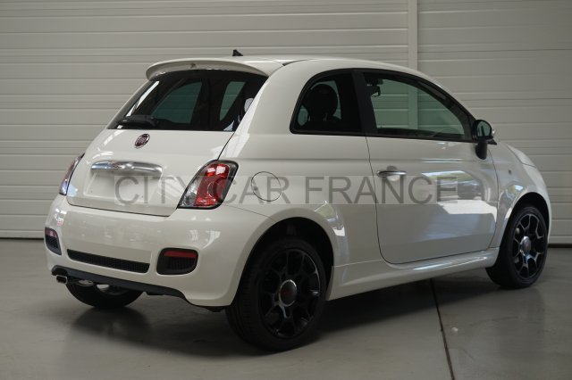fiat 500 69ch s blanche voiture en leasing pas cher citycar paris. Black Bedroom Furniture Sets. Home Design Ideas