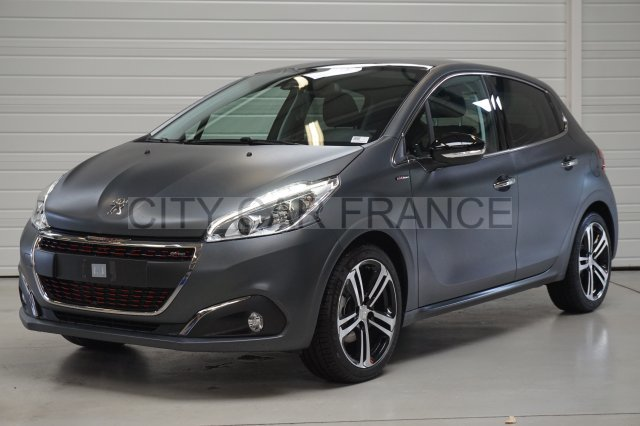 peugeot 208 1 6 bluehdi 120ch gt line grise voiture en leasing pas cher citycar paris. Black Bedroom Furniture Sets. Home Design Ideas
