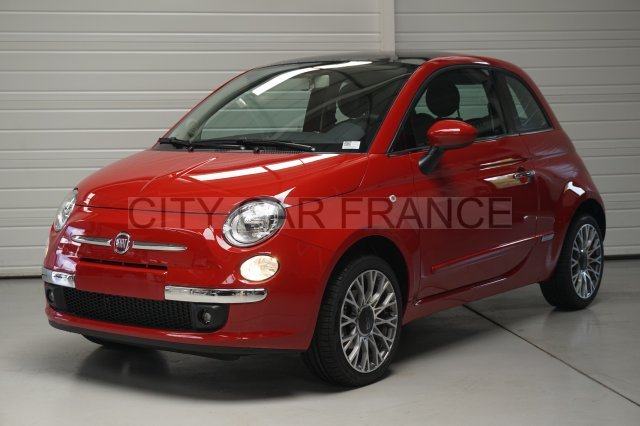 fiat 500 69ch lounge dualogic rouge voiture en leasing pas cher citycar paris. Black Bedroom Furniture Sets. Home Design Ideas