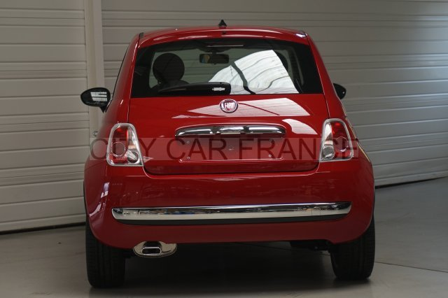 fiat 500 1 2 8v 69ch lounge dualogic rouge voiture en leasing pas cher citycar paris. Black Bedroom Furniture Sets. Home Design Ideas