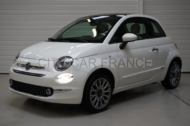 fiat 500 serie 4 1 2 69 ch lounge blanche voiture en. Black Bedroom Furniture Sets. Home Design Ideas