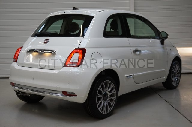 fiat 500 serie 4 1 2 69 ch lounge blanche voiture en leasing pas cher citycar paris. Black Bedroom Furniture Sets. Home Design Ideas