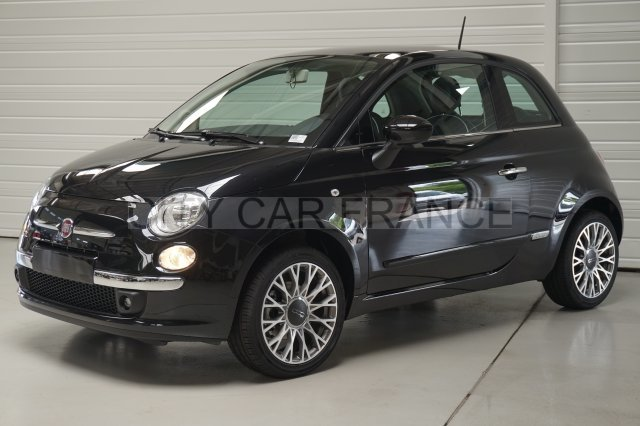 fiat 500 69ch lounge dualogic noire voiture en leasing pas cher citycar paris. Black Bedroom Furniture Sets. Home Design Ideas